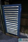 15-DRAWER VIDMAR TOOL CABINET AND CONTENTS WITH MISCELLANEOUS CARBIDE END MILLS, DIAMOND GRINDING