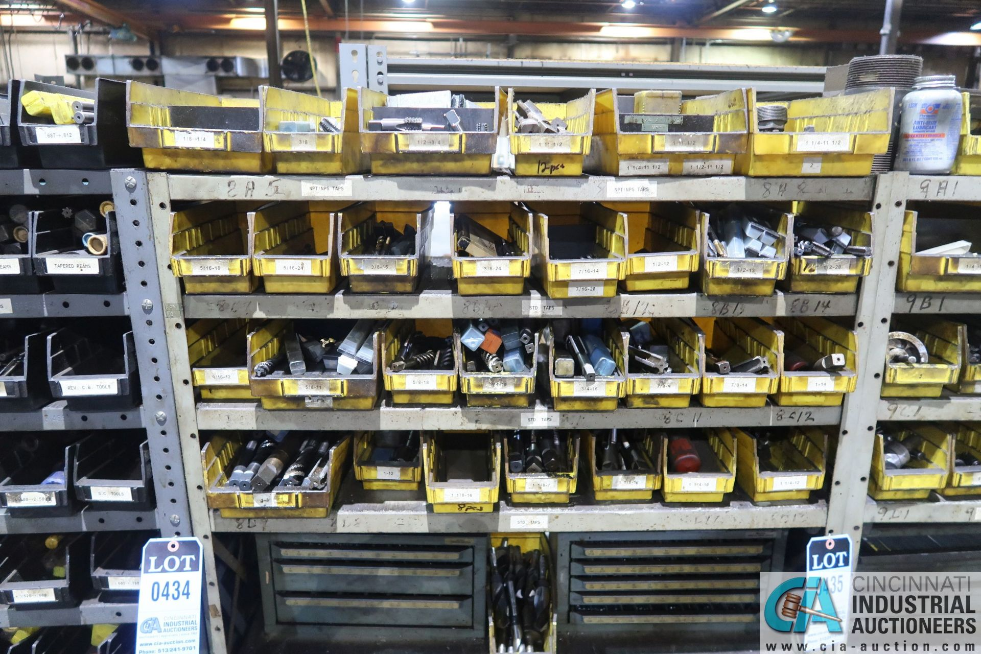 (LOT) HUGE ASSORTMENT TAPS AND DRILL INDEX CABINETS WITH SHELVING - Image 2 of 4