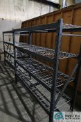 """(LOT) (3) SECTIONS 24"""" X 72"""" X 72"""" HIGH LIGHT DUTY ADJUSTABLE BEAM WIRE DECKING PALLET RACK W/ (3)"""