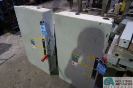 (LOT) (2) SIEMENS HEAVY DUTY DOUBLE THROW SAFETY SWITCHES