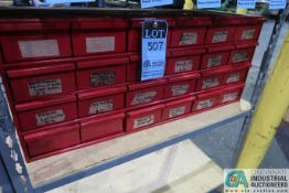 24-DRAWER GRAINGER TOOL CABINET AND CONTENTS