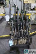 (LOT) MISCELLANEOUS ID BORE GAGE BARS, APPROX. (45) BARS WITH RACK **SEE LOT PHOTO FOR BAR SIZES PER