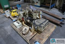 2 TON COFFING BOTTOM RUNNING CABLE HOIST WITH TROLLEY **HAS NO PENDANT CONTROL**