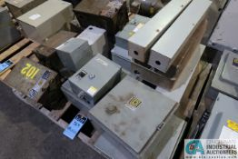 SKID MISCELLANEOUS ELECTRICAL PANEL BOXES WITH (3) BUSWAY SAFETY SWITCHES