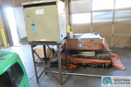 (LOT) ASSORTED ELECTRICAL: 75 KVA GE CAT. NO. 9T23B3874 TRANSFORMER & SKID DISCONNECTS