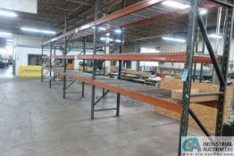 """SECTIONS 36"""" X 120"""" X 12' PALLET RACK W/ WIRE DECKING"""