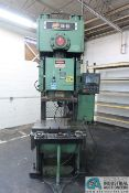 "88 TON CLEARING NIAGARA MODEL BN-80-1 GAP FRAME PRESS; S/N P54230, 6"" STROKE, 19"" SHUT HEIGHT, 4."