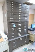 FIVE-DRAWER BLUE PRINT CABINETS