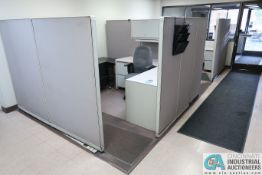 "105"" X 107"" STEELCASE OFFICE CUBICLES"
