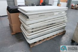 6' PLASTIC FOLDING TABLES
