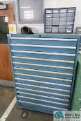 13-DRAWER LISTA CABINET W/ CONTENTS (SPRING, DIE COMPONENTS, C-CLAMPS, HARDWARE)