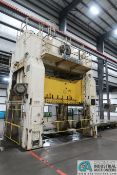 **630 TON ROVETTA S4-600-3350-2100 FOUR-POST SLIDING BOLSTER SS PRESS*Subject to Overall Bid 386A**