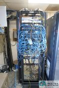 (LOT) HOFFMAN SERVER RACK W/ ADVA FSP-150CC ETHERNET, CISCO 1AD2431-ITIEI INTEGRATED ACESS