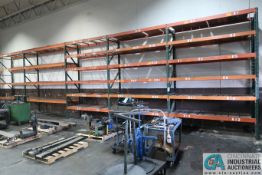 """SECTIONS 36"""" X 96""""/120"""" X 12' PALLET RACK W/ WOOD & WIRE DECKING"""