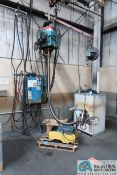 MEDNA LEGEND HANGING SPOT WELDER W/ POWER SOURCE, BALANCER & SKID OF EXTRA PARTS; NO RAIL