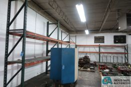 """SECTIONS 32""""/36"""" X 120"""" X 10' PALLET RACK W/ WIRE DECKING"""