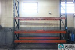 """SECTIONS 36"""" X 132"""" X 12' PALLET RACK W/ WIRE DECKING"""