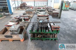 (LOT) LARGE QTY. PUNCH PRESS DIES IN (4) ROWS ON FLOOR