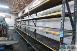 """SECTIONS 24"""" X 96"""" X 9' PALLET RACK W/ STEEL DECKING"""