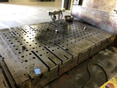 """**84"""" X 144"""" X 10"""" Thick T-Slotted Bolster Plate** Subject to overall bid at 380B**"""
