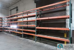 """SECTIONS 36"""" X 120"""" X 12' PALLET RACK W/ WOOD DECKING"""