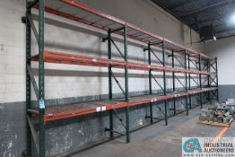 """SECTIONS 32"""" X 120"""" X 12' PALLET RACK"""
