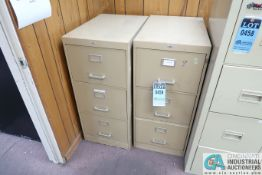 (LOT) (1) FOUR-DRAWER & (2) THREE-DRAWER FILE CABINETS