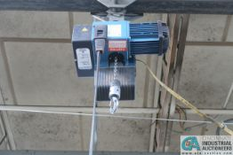 1/4 TON DEMAG OVERHEAD ELECTRIC CHAIN HOIST (HOIST & TROLLEY ONLY - NO RAIL)