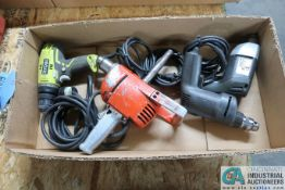 ELECTRIC DRILLS BY RYOBI, BLACK & DECKER & OTHERS