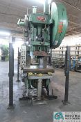 "110 TON DANLY OBI PRESS; S/N 110528810165, 6"" STROKE, 18-1/2"" SHUT HEIGHT, 3-1/2"" ADJ., 90 SPM,"