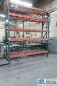 """SECTION 32"""" X 120"""" X 12' PALLET RACK W/ WIRE DECKING (5-SHELVES)"""
