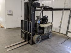 """4,500 LB. CROWN MODEL FC4500 ELECTRIC LIFT TRUCK; S/N 9A209480, 4-STAGE MAST, 89"""" MAST HEIGHT"""