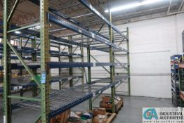 """SECTIONS 36"""" X 110"""" X 12' PALLET RACK W/ WIRE DECKING"""