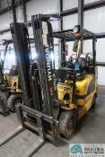 5,000 LB. HYUNDAI MODEL 25LC-7A SOLID TIRE LP GAS LIFT TRUCK; S/N HHKHHC08TF0000875, 3-STAGE MAST,