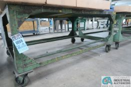 """48"""" X 68"""" H.D. STEEL PORTABLE TABLES **DELAY REMOVAL UNTIL AUGUST 21, 2020**"""
