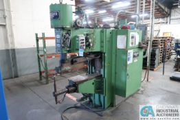 "150 KVA SCIAKY MODEL PMC-35TM2-50-36 SPOT WELDER; S/N 11019, 42"" THROAT, SOLID STATE CONTROLS,"
