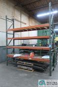 """SECTION 32"""" X 120"""" X 12' PALLET RACK W/ WOOD DECKING"""
