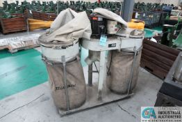 **TAIWAN MADE MODEL DM-525TS TWIN BAG DUST COLLECTOR; S/N 11850, 5 HP (2012) **LOCATED IN COLUMBIA