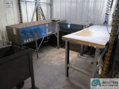 MISCELLANEOUS SIZE WATER WASH TUBS WITH BENCH