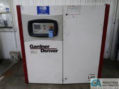 60 HP GARDNER-DENVER MODEL L30-45B CABINET ENCLOSED AIR COOLED AIR COMPRESSOR; S/N S522106 (NEW