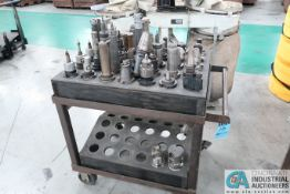 **CAT 50 TOOLHOLDERS WITH CART **LOCATED IN COLUMBIA CITY, INDIANA**