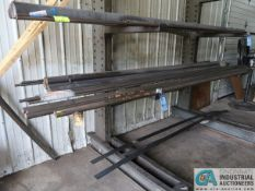 (LOT) MISCELLANEOUS BAR STOCK ON CANTILEVER RACK AND (2) MATERIAL CARTS **NO CARTS OR RACK**