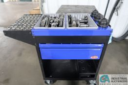 HUOT TOOLING CART AND CONTENTS WITH COLLETS, BORING BARS, AND MISCELLANEOUS TOOLING