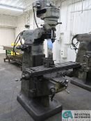1 HP BRIDGEPORT VERTICAL MILLING MACHINE; S/N 105621
