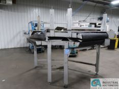 "SECTIONS BOSCH TYPE KRI-SP CURVED POWER CONVEYOR, 36"" APPROX. RUBBER BELT, (1) SECTION 36"" HIGH"