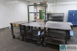 MISCELLANEOUS SIZE SUPER DUTY WELDED STEEL PORTABLE TABLES