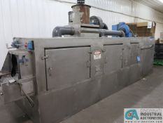 AUTOMATED FINISHING PWD-49 BELT TYPE PARTS WASHER, moved from Columbia City plant approx. 1 year ago