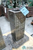 """**10"""" X 10"""" X 28"""" HIGH DRILLED AND TAPPED TOMBSTONE, 19-3/4"""" X 19-3/4"""" BASE **LOCATED IN COLUMBIA"""