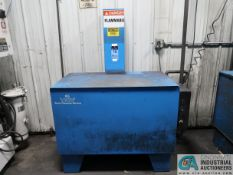 80 GALLON CRYSTAL KLEEN STEEL SOLVENT AGITATING LIFT PARTS WASHER; S/N N/A