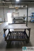 """36"""" X 50"""" X 33"""" HIGH X 5/8"""" THICK STEEL TOP PLATE HEAVY DUTY WELDED PORTABLE STEEL CART"""